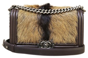 Chanel Medium Fox Fur Limited Edition Boy Shoulder Bag