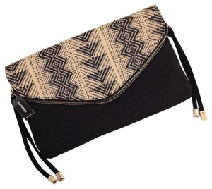 Express Metro Tribal Ethnic Straw Date Night Clutch