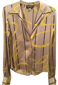Tracy Keith Top Yellow, Black & Pewter