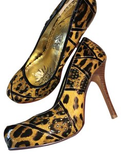 Naughty Monkey Gold and Black Platforms