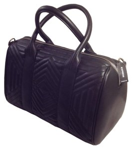 Express Office Travel Trendy Chic Satchel in Black