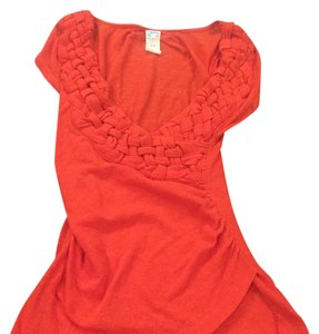 Anthropologie Top Red/Orange