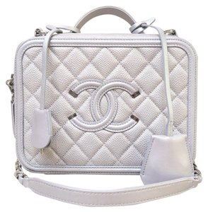 Chanel Tote Shoulder Like New Satchel in silvery