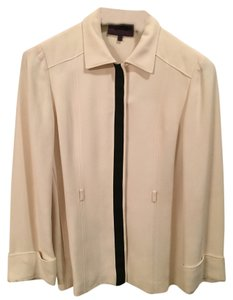 Les Copains (Trend) Light Cream with Black Trim Blazer