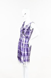 Lela Rose Purple Wool Dress