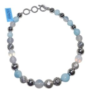 David Yurman blue belle popcorn bead sterling silver 925 necklace