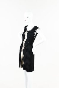 Chanel Wool Wave Patterned Pleated Dress