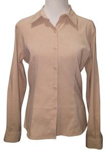 Van Heusen Button Down Shirt Beige