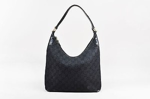 Gucci Gray Woven Denim Shoulder Bag