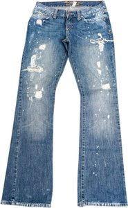 Abercrombie & Fitch Distressed Denim Boot Cut Jeans-Distressed