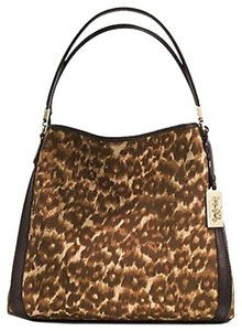 Coach Madison Ocelot Satchel in Brown/multicolor