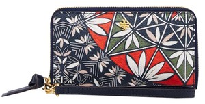Tory Burch Wristlet in Navy pottery