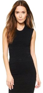 Torn by Ronny Kobo Sleeveless Knit Textured Top Black