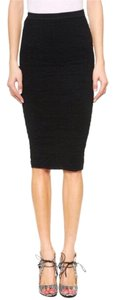 Torn by Ronny Kobo Bodycon Textured Knit Stretchy Skirt Black