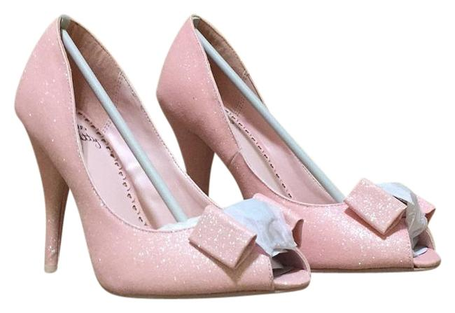 Item - Princess Pink with Glitter Racine Peep Toe Pumps Size US 7 Regular (M, B)