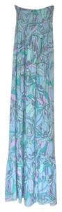 Multicolored blue and green Maxi Dress by Lulu*s