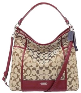 Coach Signature Tote Crossbody Hobo Bag