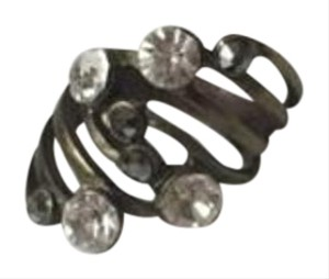 Topshop Topshop Bronze & Rhinestone Statement Ring