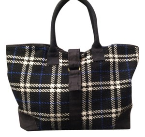 Buji Baja Tweed Getaway Carry On black/blue/white plaid Travel Bag