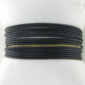 David Yurman David Yurman Bracelet Row Box Chain 18k Yellow Gold Blackened 925