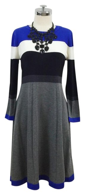 Preload https://img-static.tradesy.com/item/19864706/grey-black-blue-knitted-striped-long-sleeve-fit-and-above-knee-short-casual-dress-size-8-m-0-1-650-650.jpg