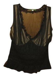 Derek green Top Black/nude