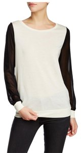 Haute Hippie Color-blocking T Shirt Swan/Black
