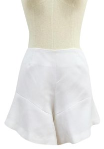 Finders Keepers Ruffle Peplum Fitted Shorts white