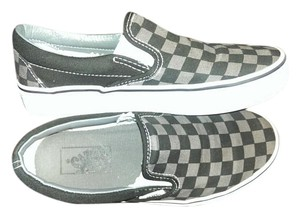 Vans Ladies Size 5.5 Slip On Grey and black checker board Athletic