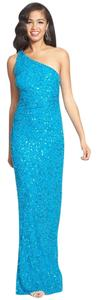 Adrianna Papell Sequin Embroidered Gown Evening Full Length Dress