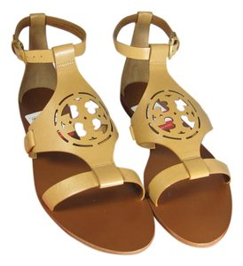Tory Burch Flat Tan Ankle Strap sand Sandals