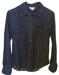 Banana Republic Button Down Shirt Blue.