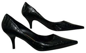 Nine West New Patent Reptile Black Pumps