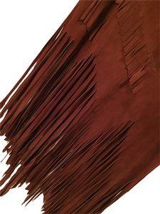 Alessandro Foresti (Italian) Brown Shingle Skirt Rust Sued