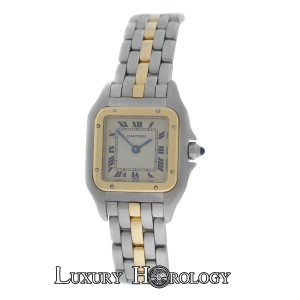 Cartier Genuine Ladies Cartier Panthere One Row 18K Gold Steel 22mm