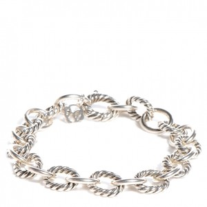 David Yurman David Yurman Cable / Smooth SS Chain Link Bracelet