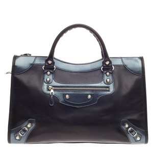Balenciaga Calfskin Satchel in Black