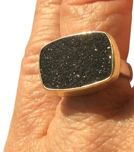 Druzy Stone in 18k Gold Ring