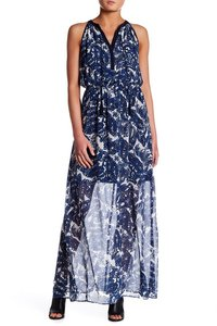 Blue Maxi Dress by Vince Camuto Chiffon Maxi Paisley Floral