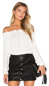 Lost in Lunar Open Shoulder Boho Trendy New Top White