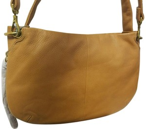 Hobo International Leather Zipper Expandable Crossbody Hobo Bag