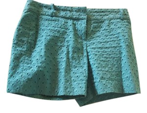 Ann Taylor LOFT Resort Summer Spring Cotton Dress Shorts Light Mystic Turquoise
