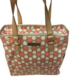 Vineyard Vines New Travel Weekender Tote Pink, Orange, White, Gold Travel Bag