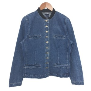 Gap Denim Velvet Longsleeve Silver Hardware Fall BLUE/ BLACK Jacket
