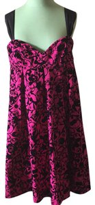 Love Moschino short dress Black/pink on Tradesy