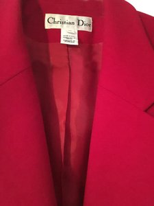 Dior Blazer Wool Top Red