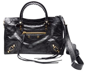 Balenciaga Leather Vintage Studded Shoulder Bag