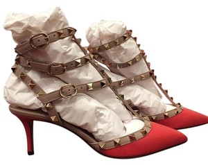 Valentino Rockstud Stud Strappy red Pumps