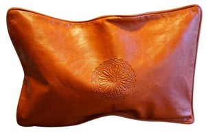 Vintage Rust Red leather Clutch