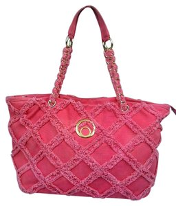 Big Buddha Chenille Tote in Pink